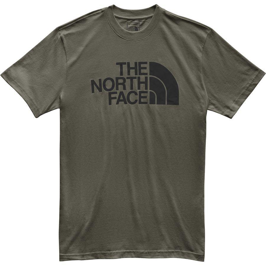 (取寄)ノースフェイス メンズ ハーフ ドーム Tシャツ The North Face Men's Half Dome T-Shirt New Taupe Green/TNF Black
