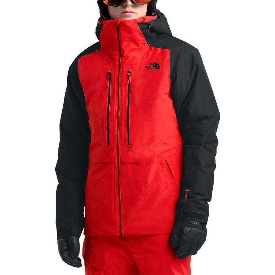 (取寄)ノースフェイス メンズ パウダー ガイド ジャケット The North Face Men's Powder Guide Jacket Fiery Red/Tnf Black