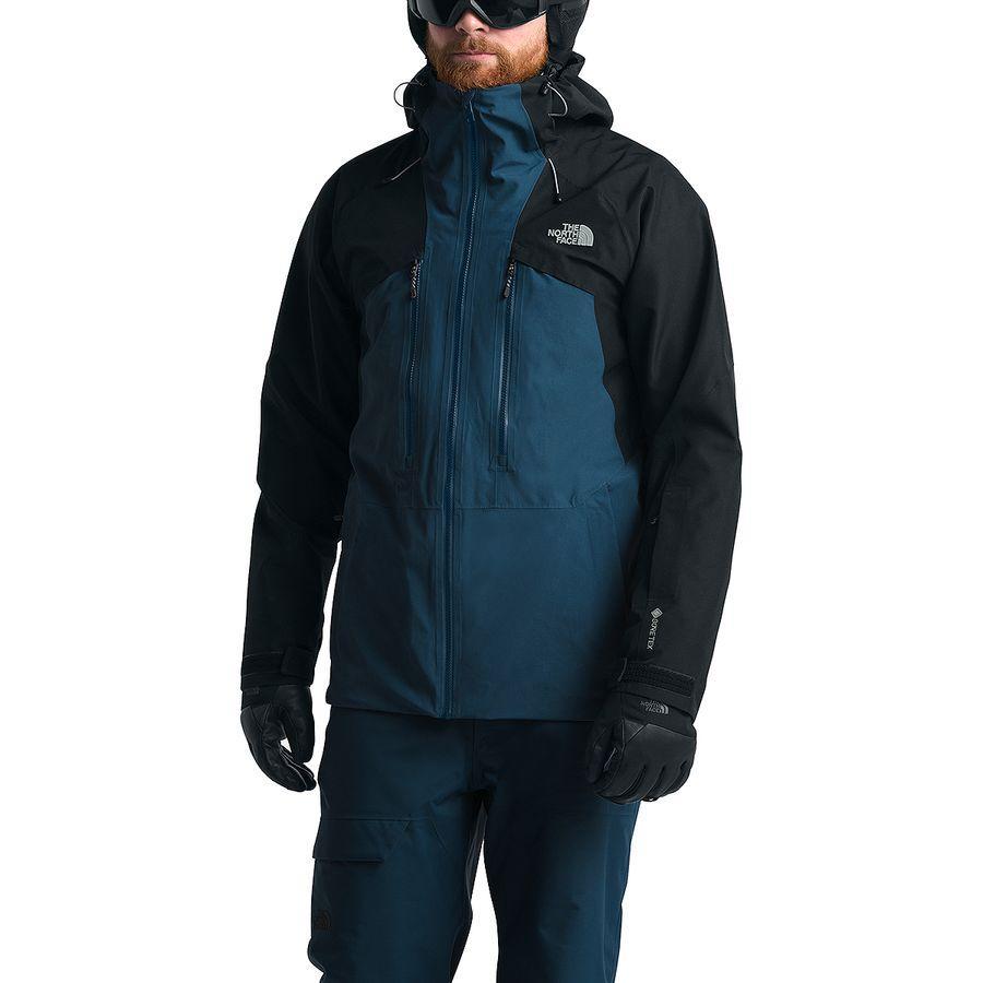 【クーポンで最大2000円OFF】(取寄)ノースフェイス メンズ パウダーフロー ジャケット The North Face Men's Powderflo Jacket Blue Wing Teal/Tnf Black