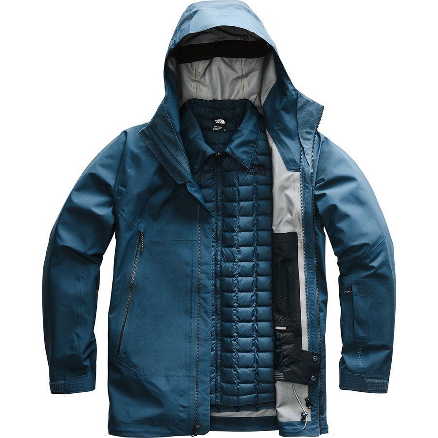 (取寄)ノースフェイス メンズ Alligare ThermoBall トリクラメイト ジャケット The North Face Men's Alligare ThermoBall Triclimate Jacket Blue Wing Teal