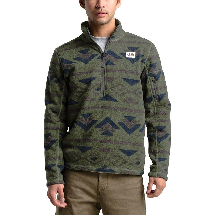(取寄)ノースフェイス メンズ ノベルティ ゴードン リヨン 1/4-Zipフリース プルオーバー ジャケット The North Face Men's Novelty Gordon Lyons 1/4-Zip Fleece Pullover Jacket Four Leaf Clover California Geo Stripe Print