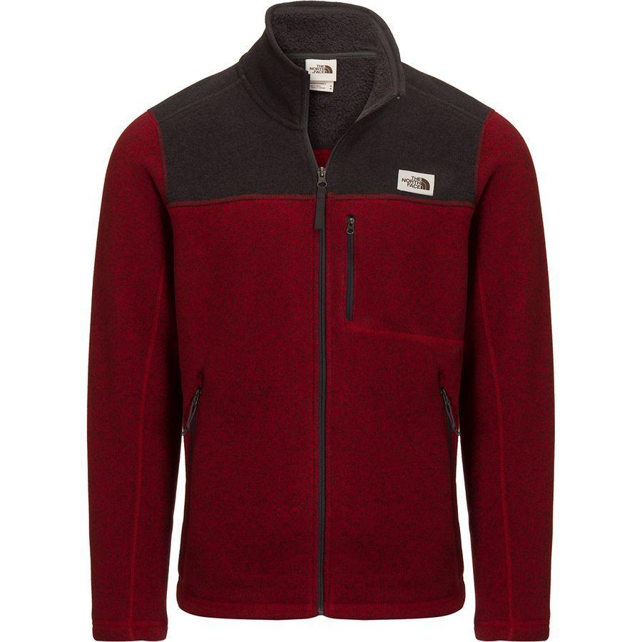 (取寄)ノースフェイス メンズ ゴードン リヨン フルジップ ジャケット The North Face Men's Gordon Lyons Full-Zip Jacket Cardinal Red Heather/Tnf Dark Grey Heather