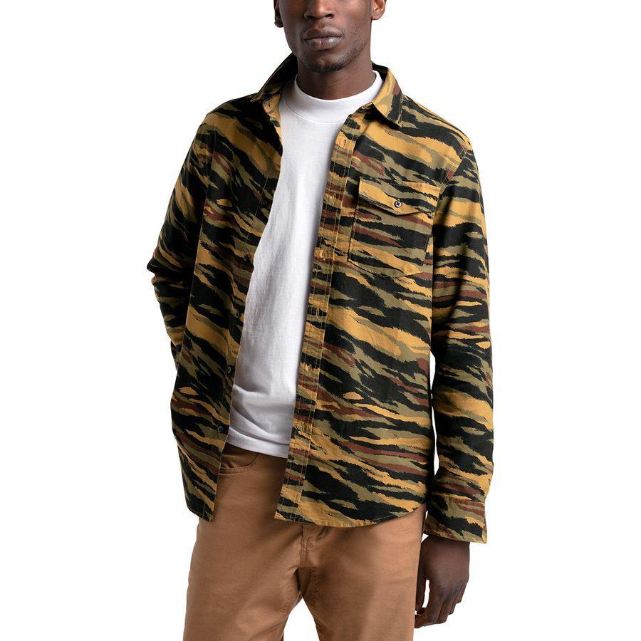 (取寄)ノースフェイス メンズ ノースウォッチ ペインテッド シャツ The North Face Men's Northwatch Printed Shirt British Khaki Tiger Camo Print