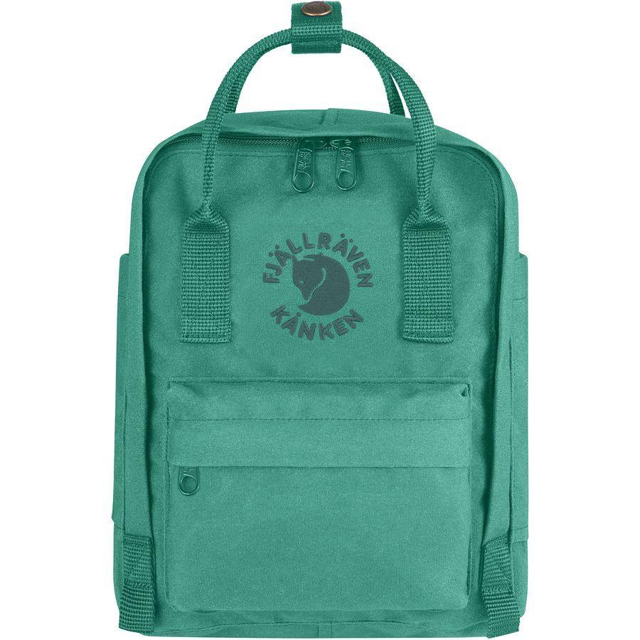 【エントリーでポイント5倍】(取寄) フェールラーベン ユニセックス Re-Kankenミニ 7L バックパック Fjallraven Men's Re-Kanken Mini 7L Backpack Emerald