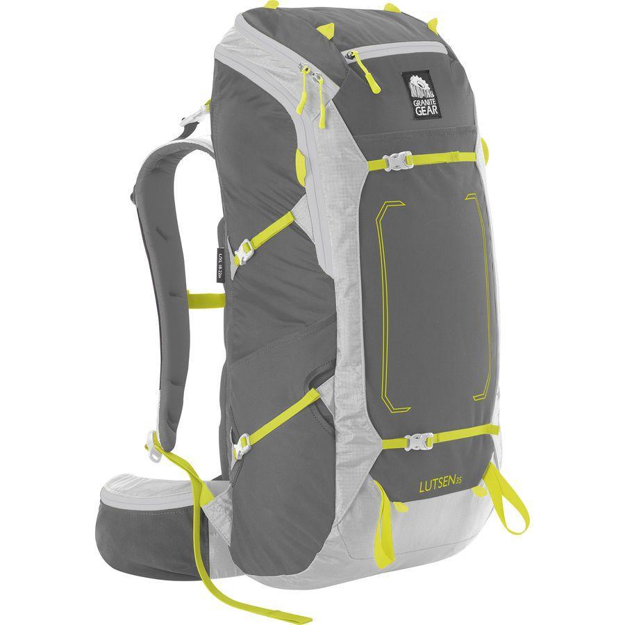 (取寄)グラナイトギア ユニセックス ルッセン 35L バックパック Granite Gear Men's Lutsen 35L Backpack Flint/Chromium/Neolime