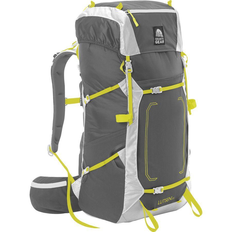 (取寄)グラナイトギア ユニセックス ルッセン 55L バックパック Granite Gear Men's Lutsen 55L Backpack Flint/Chromium/Neolime