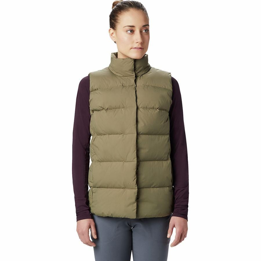 (取寄)マウンテンハードウェア レディース グレイシャル ストーム ベスト Mountain Hardwear Women Glacial Storm Vest Light Army