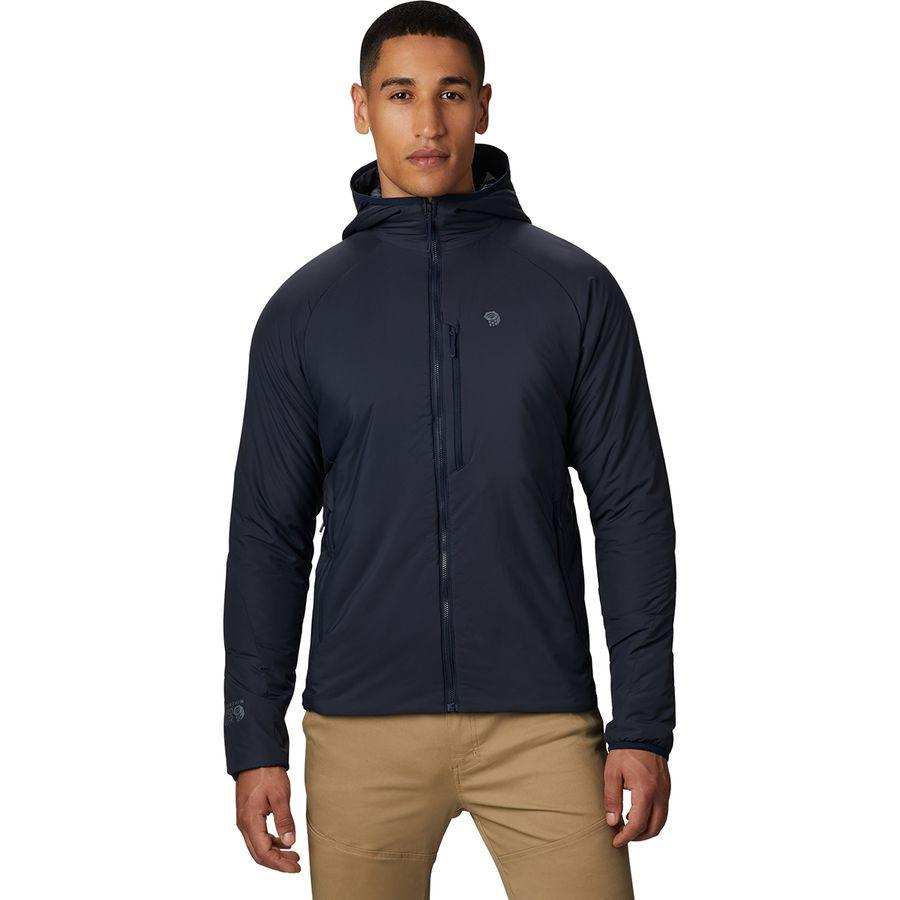 (取寄)マウンテンハードウェア メンズ コア ストラタ フーデッド ジャケット Mountain Hardwear Men's Kor Strata Hooded Jacket Dark Zinc