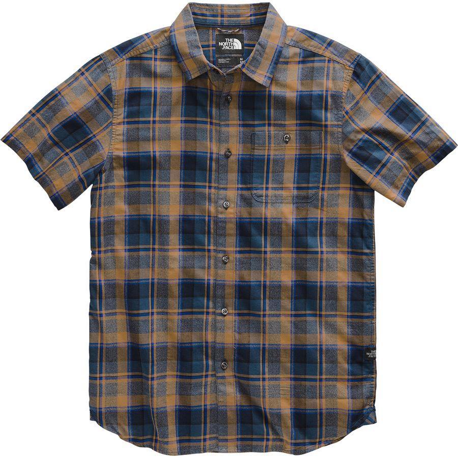 (取寄)ノースフェイス メンズ ヘイデン パス ショートスリーブ シャツ The North Face Men's Hayden Pass Short-Sleeve Shirt Cedar Brown Rogan Plaid