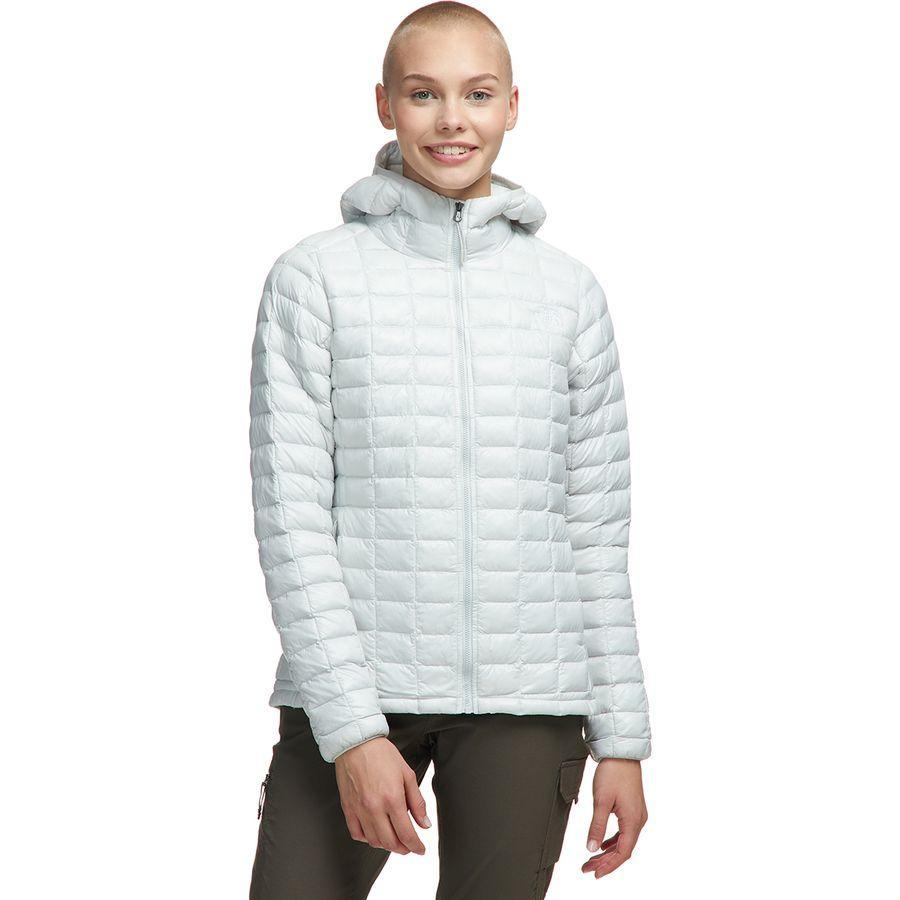 【ハイキング 登山 マウンテン アウトドア】【ウェア アウター】【山ガール ファッション ブランド】【大きいサイズ ビッグサイズ】 (取寄)ノースフェイス レディース サーモボール エコ フーデッド インサレーテッド ジャケット The North Face Women Thermoball Eco Hooded Insulated Jacket Tin Grey
