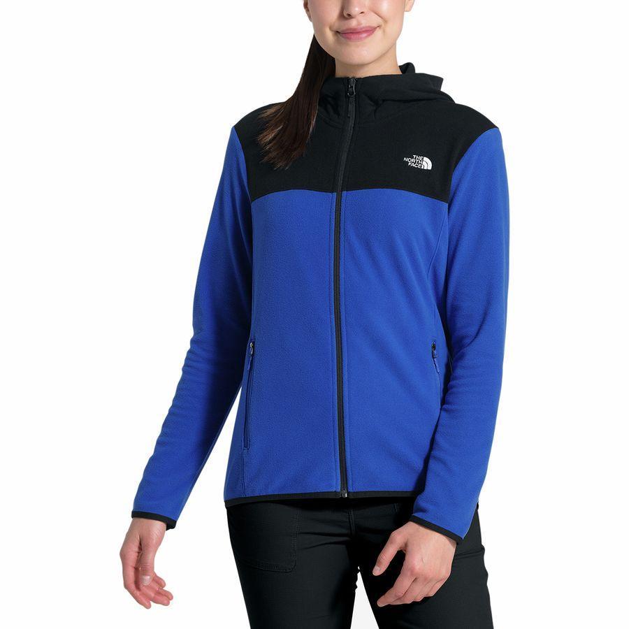 (取寄)ノースフェイス レディース TKA グレイシャー フルジップ フーデッド フリース ジャケット The North Face Women TKA Glacier Full-Zip Hooded Fleece Jacket Tnf Blue/Tnf Black