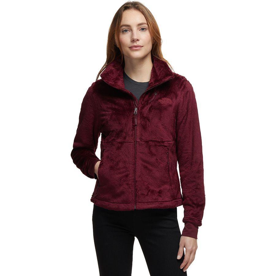 (取寄)ノースフェイス レディース Osito フロー ジャケット The North Face Women Osito Flow Jacket Deep Garnet Red