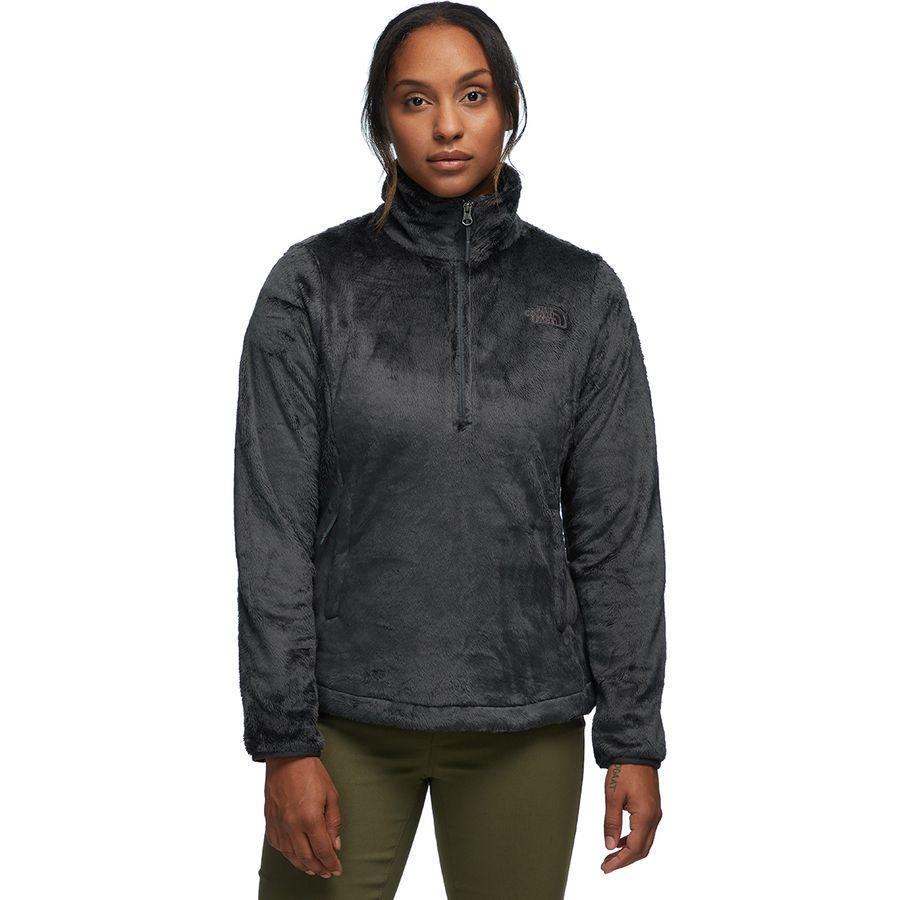 (取寄)ノースフェイス レディース Osito 1/4-Zip フリース プルオーバー The North Face Women Osito 1/4-Zip Fleece Pullover Asphalt Grey