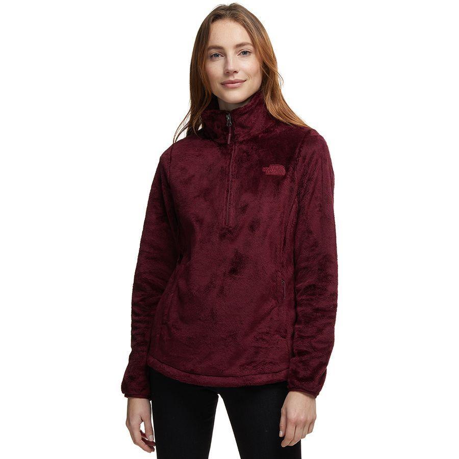 (取寄)ノースフェイス レディース Osito 1/4-Zip フリース プルオーバー The North Face Women Osito 1/4-Zip Fleece Pullover Deep Garnet Red