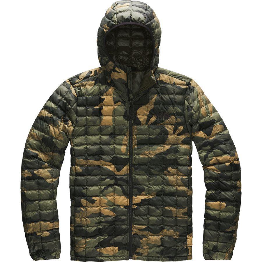 (取寄)ノースフェイス メンズ サーモボール エコ フーデッド ジャケット The North Face Men's Thermoball Eco Hooded Jacket Burnt Olive Green Waxed Camo Print