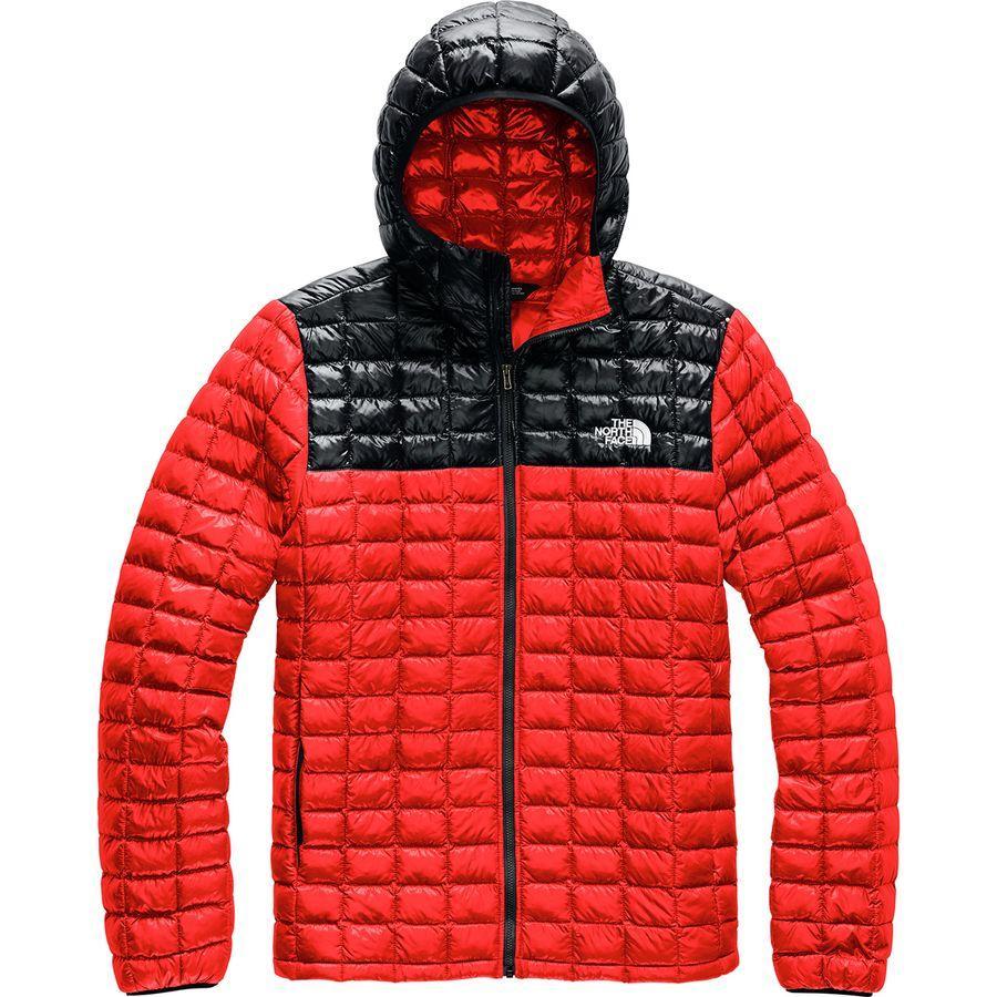 【ハイキング 登山 マウンテン アウトドア】【ウェア アウター】【大きいサイズ ビッグサイズ】 (取寄)ノースフェイス メンズ サーモボール エコ フーデッド ジャケット The North Face Men's Thermoball Eco Hooded Jacket Fiery Red/Tnf Black