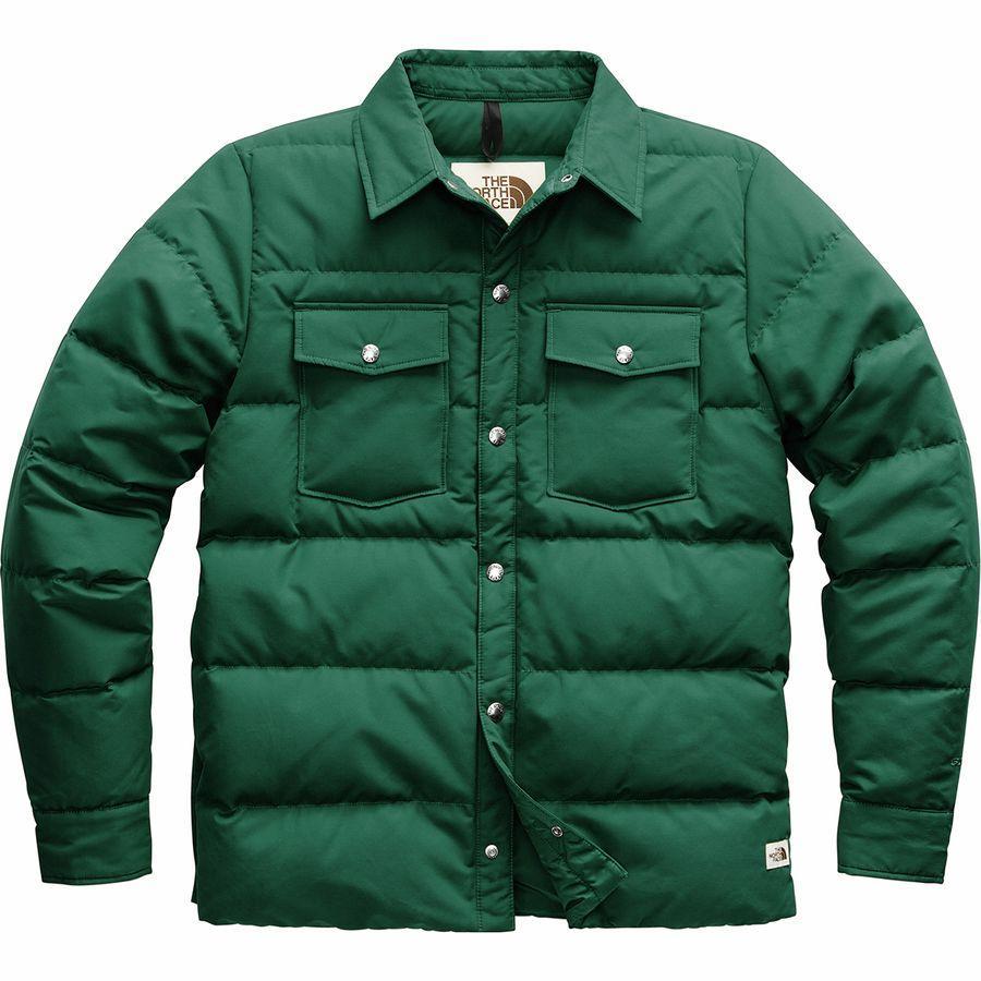 (取寄)ノースフェイス メンズ ダウン シエラ スナップ ジャケット The North Face Men's Down Sierra Snap Jacket Night Green