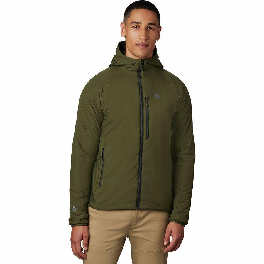(取寄)マウンテンハードウェア メンズ コア ストラタ フーデッド ジャケット Mountain Hardwear Men's Kor Strata Hooded Jacket Dark Army