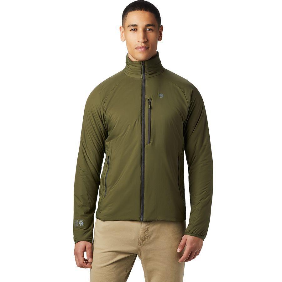 【クーポンで最大2000円OFF】(取寄)マウンテンハードウェア メンズ コア ストラタ ジャケット Mountain Hardwear Men's Kor Strata Jacket Dark Army