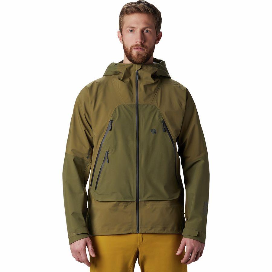 (取寄)マウンテンハードウェア メンズ ハイ エクスポーザー Gore-TexC-Knit ジャケット Mountain Hardwear Men's High Exposure Gore-Tex C-Knit Jacket Combat Green