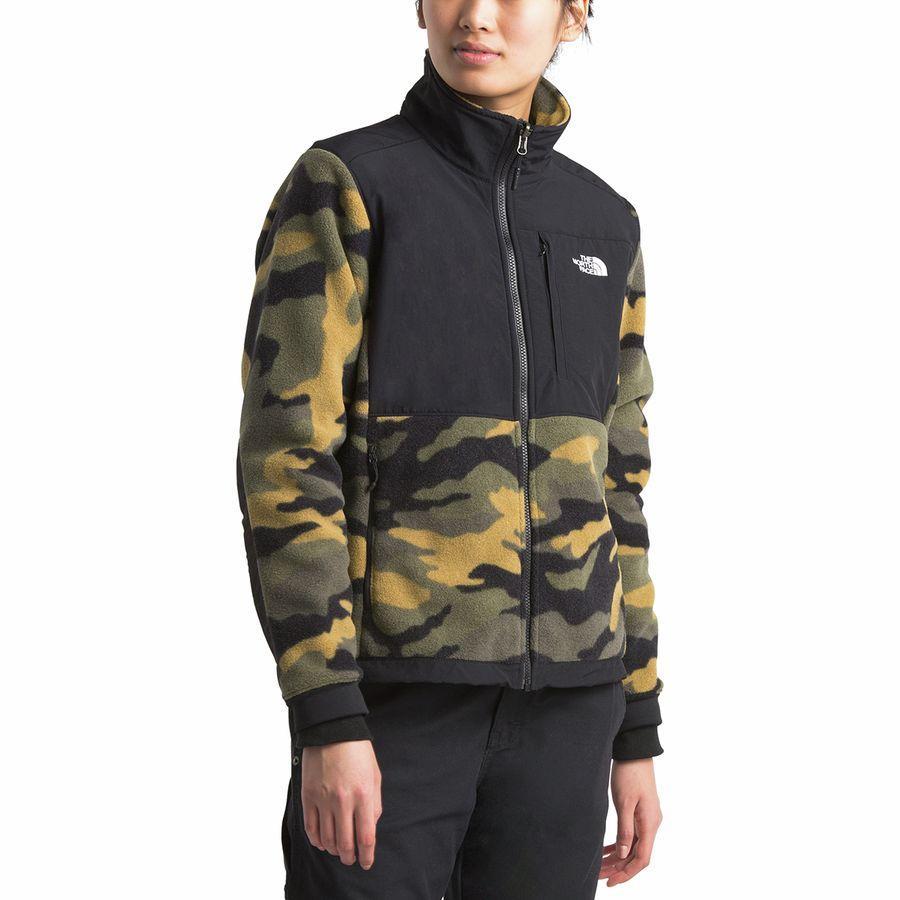 (取寄)ノースフェイス レディース デナリ 2 フリース ジャケット The North Face Women Denali 2 Fleece Jacket Burnt Olive Green Woods Camo Print