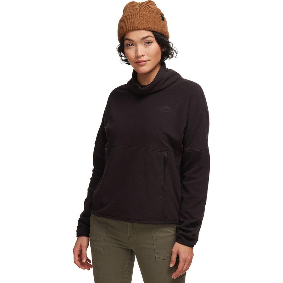 (取寄)ノースフェイス レディース TKA グレイシャー Funnel-Neck フリース プルオーバー The North Face Women TKA Glacier Funnel-Neck Fleece Pullover Tnf Black/Tnf Black