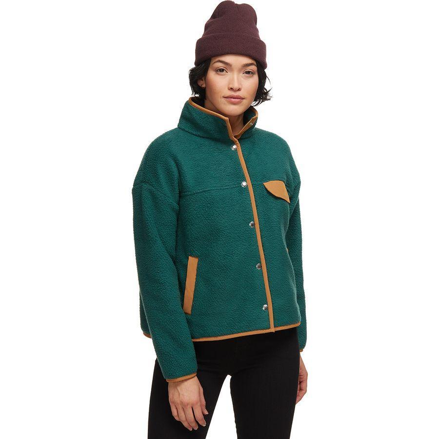 (取寄)ノースフェイス レディース クラグモント フリース ジャケット The North Face Women Cragmont Fleece Jacket Ponderosa Green/Cedar Brown