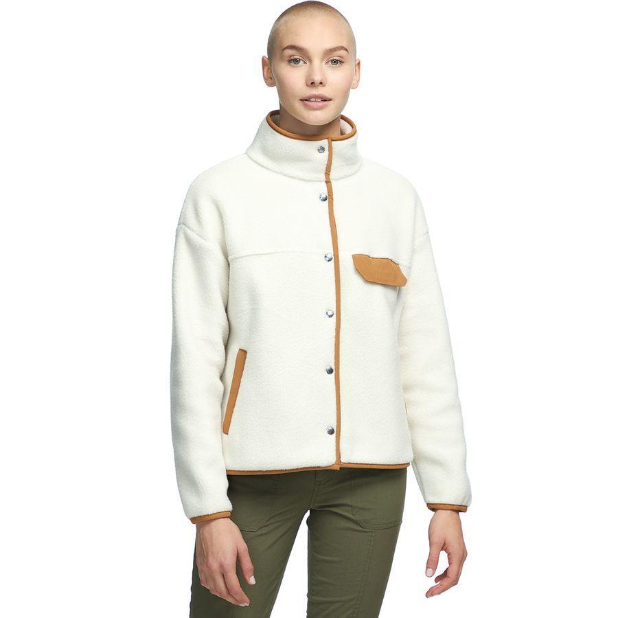 (取寄)ノースフェイス レディース クラグモント フリース ジャケット The North Face Women Cragmont Fleece Jacket Vintage White/Cedar Brown