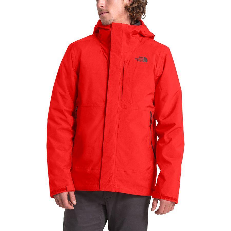 (取寄)ノースフェイス メンズ カルト トリクラメイト フーデッド ジャケット The North Face Men's Carto Triclimate Hooded Jacket Fiery Red/Asphalt Grey