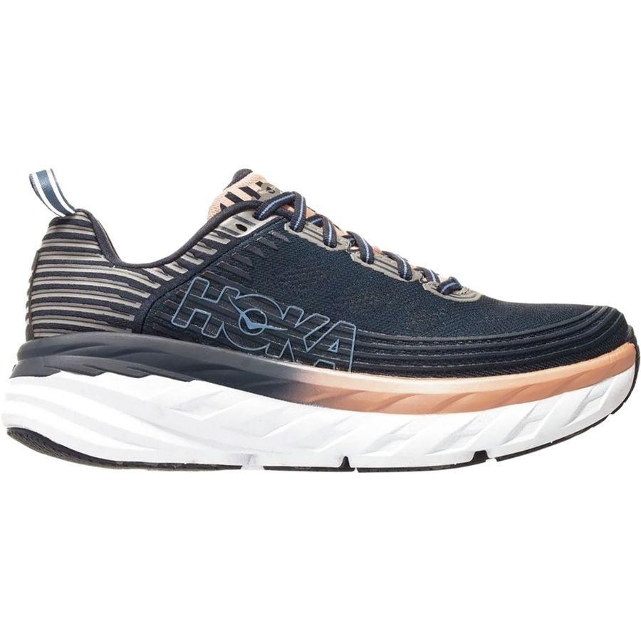 (取寄)ホカ オネ オネ レディース ボンダイ 6 ランニングシューズ HOKA ONE ONE Women Bondi 6 Running Shoe Mood Indigo/Dusty Pink