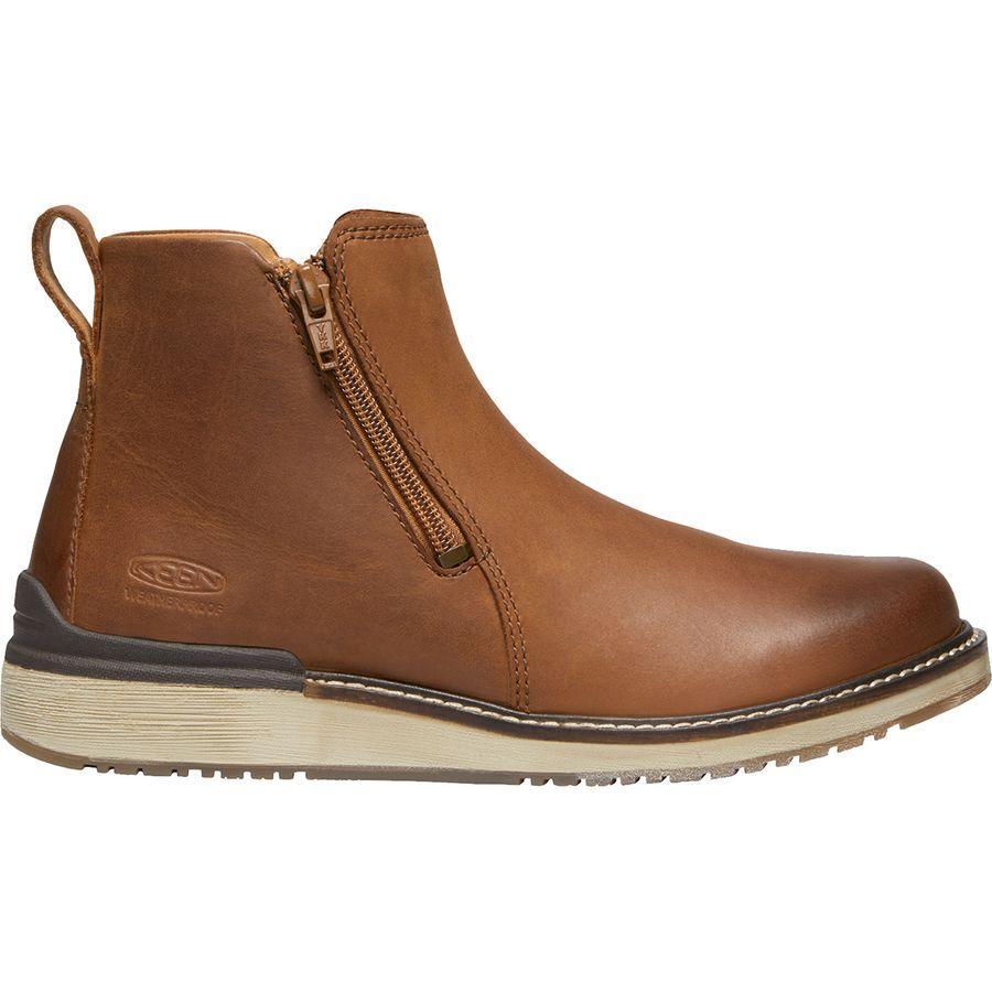 (取寄)キーン レディース ベイリー アンクル ジップ ブーツ KEEN Women Bailey Ankle Zip Boot Cognac