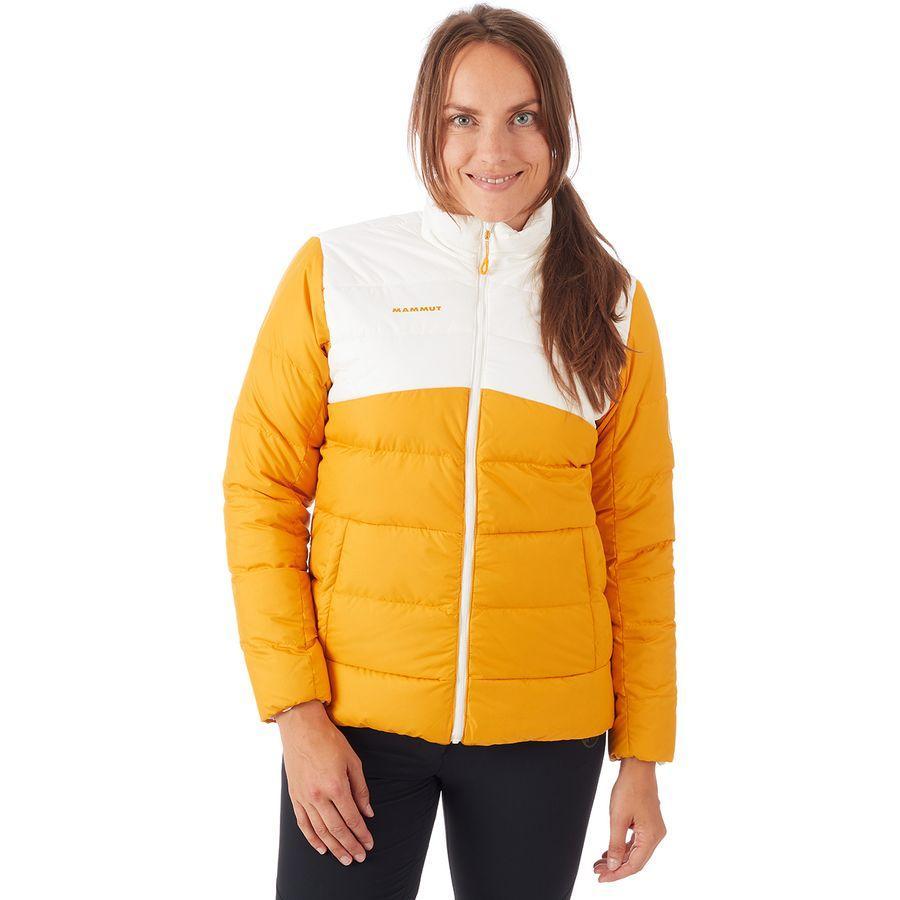【クーポンで最大2000円OFF】(取寄)マムート レディース ホワイトホーン イン ジャケット Mammut Women Whitehorn IN Jacket Golden/Bright White