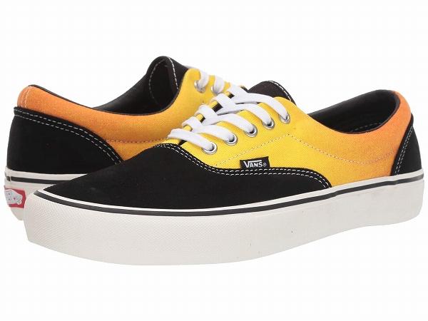 【クーポンで最大2000円OFF】(取寄)Vans(バンズ) スニーカー エラ プロ メンズ Vans Men's Era Pro (Fade) Black/Orange