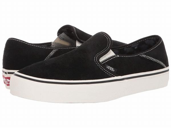 (取寄)Vans(バンズ) スニーカー スリップ-オン SF メンズ Vans Men's Slip-On SF (Suede) Black/Checkerboard