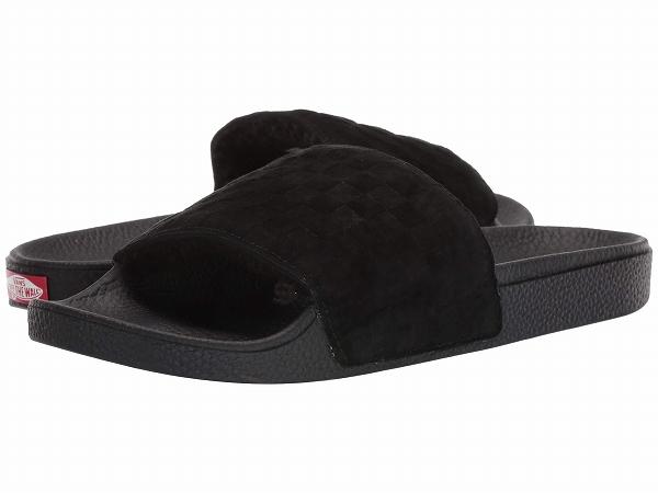 (取寄)Vans(バンズ) スニーカー スライド-オン メンズ Vans Men's Slide-On (Suede) Black