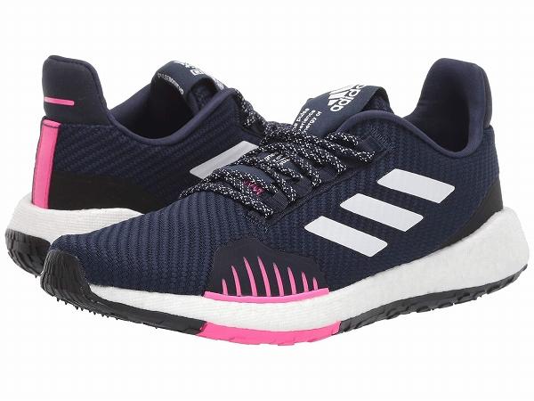 【クーポンで最大2000円OFF】(取寄)アディダス レディース パルスブースト HD ウィンター ランニングシューズ adidas Women PulseBOOST HD Winter Collegiate Navy/Footwear White/Shock Pink