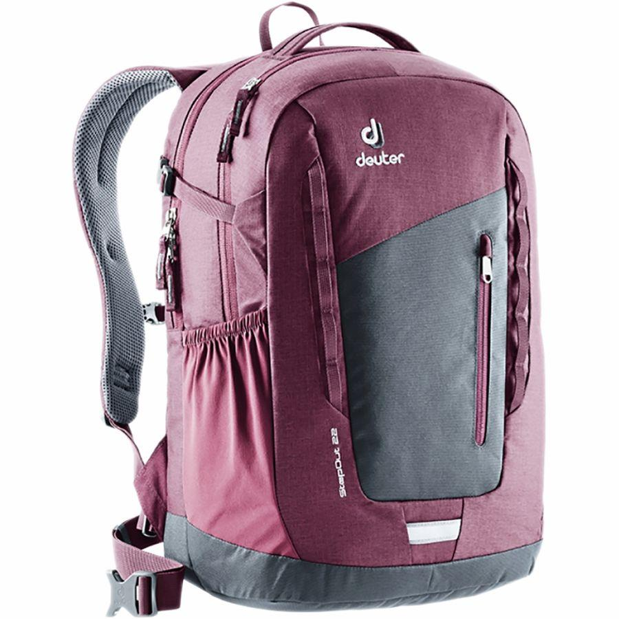 【クーポンで最大2000円OFF】(取寄)ドイター ユニセックス ステップアウト 22L バックパック Deuter Men's Stepout 22L Backpack Graphite/Maroon