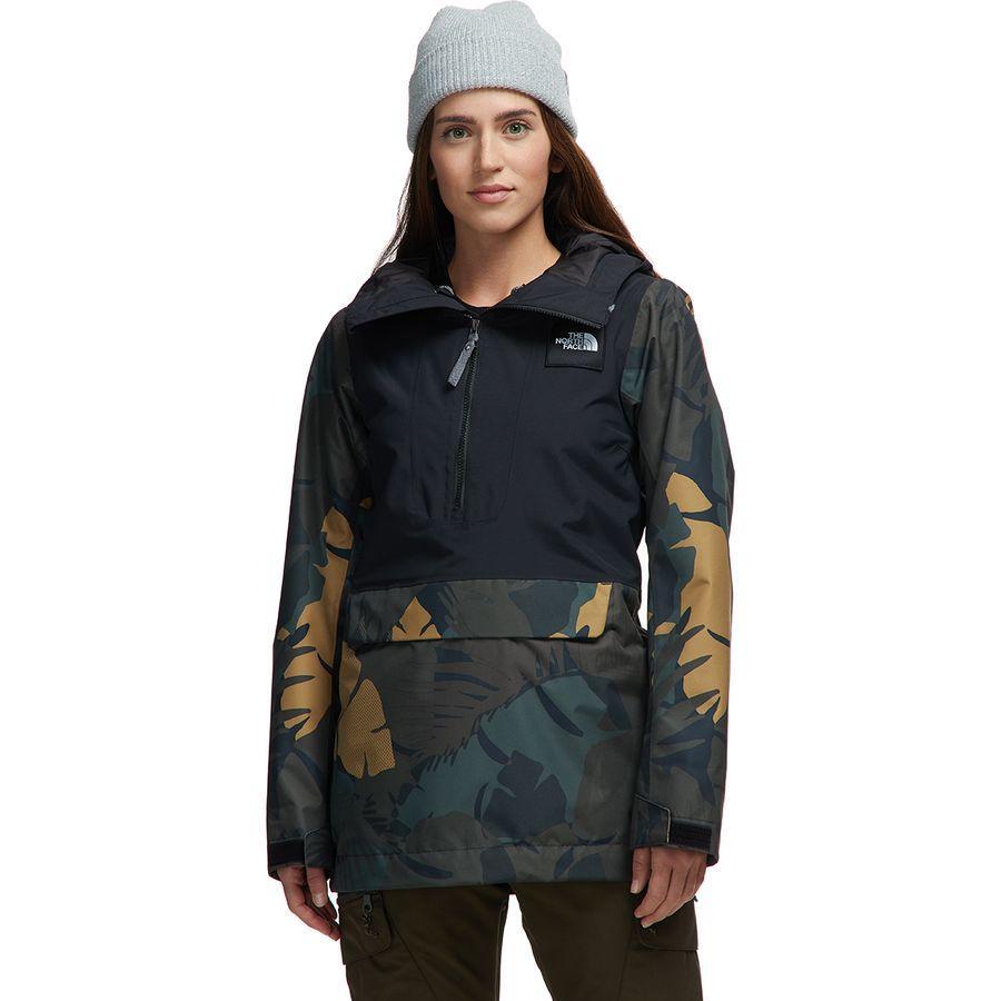 (取寄)ノースフェイス レディース タナジャー フーデッド ジャケット アノラック The North Face Women Tanager Hooded Jacket Anorak Tnf Black/New Taupe Green Palms Print