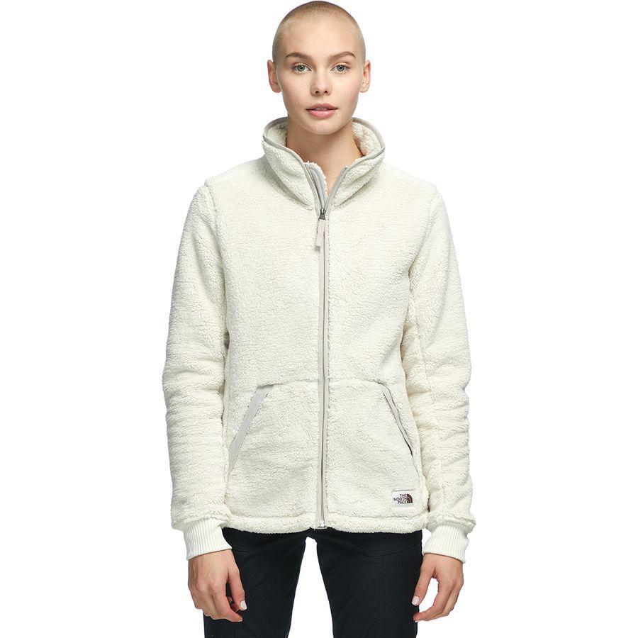 (取寄)ノースフェイス レディース Campshire フルジップ フリース ジャケット The North Face Women Campshire Full-Zip Fleece Jacket Vintage White/Dove Grey