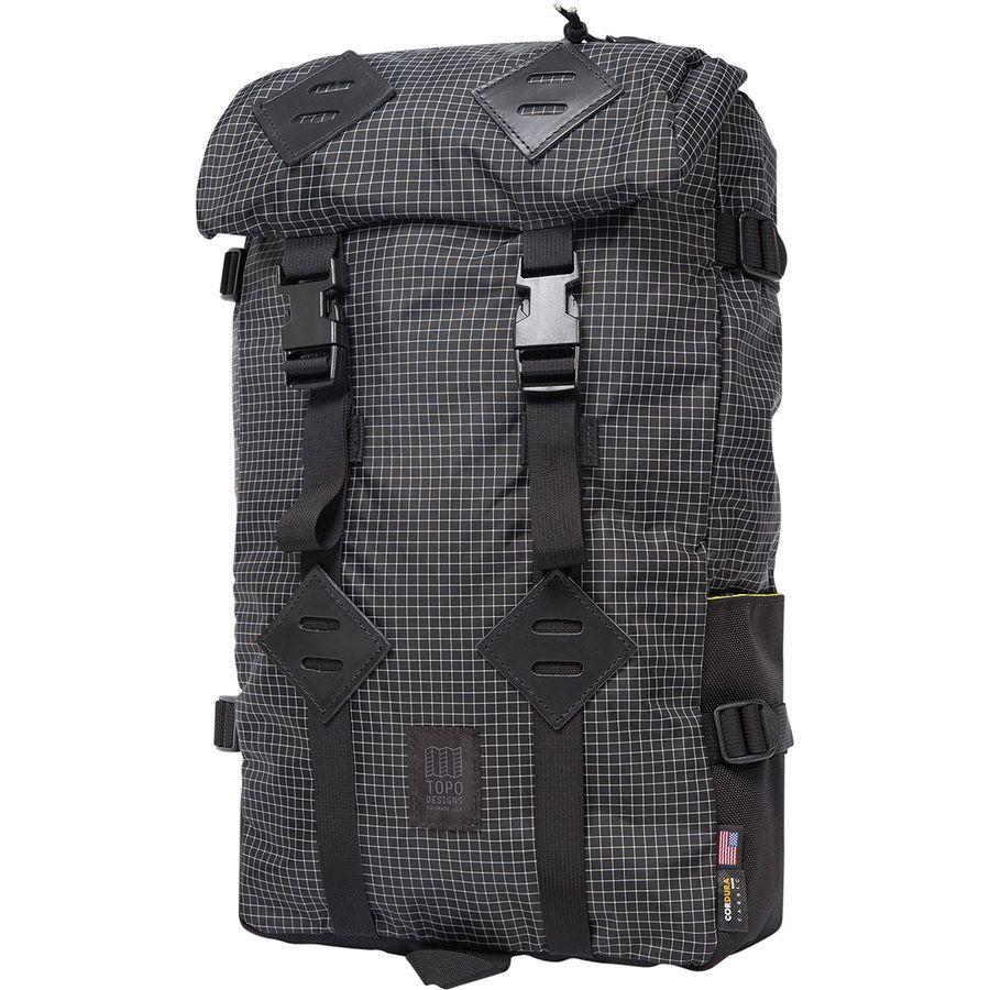 【クーポンで最大2000円OFF】(取寄)トポデザイン ユニセックス クレッターサック 25L バックパック Topo Designs Men's Klettersack 25L Backpack Black/White Ripstop