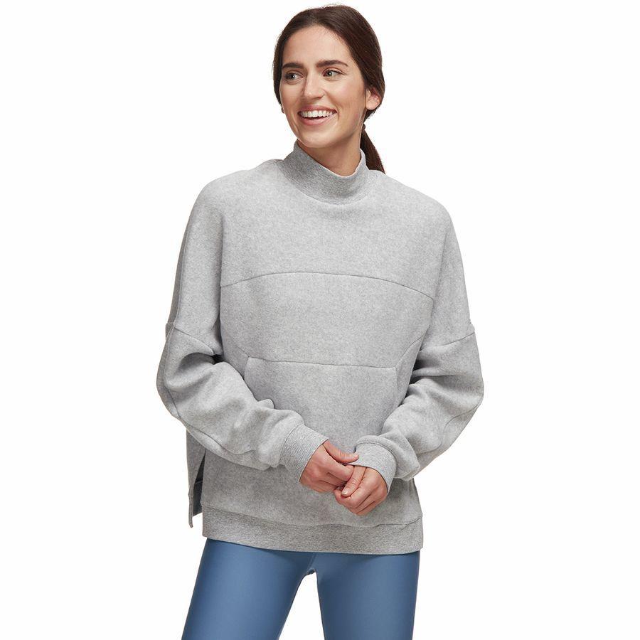 【エントリーでポイント5倍】(取寄)アローヨガ レディース セグメント トレーナー プルオーバー ALO YOGA Women Segment Sweatshirt Pullover Dove Grey Heather