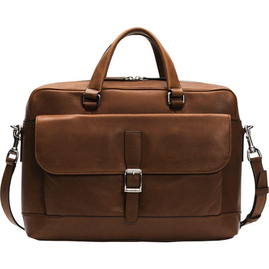 【エントリーでポイント5倍】(取寄)フライ ユニセックス オリバー 2 ハンドル バッグ Frye Men's Oliver 2 Handle Bag Dark Brown