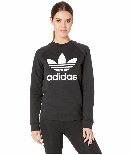 【エントリーでポイント5倍】(取寄)アディダス オリジナルス レディース トレフォイル クルー  トレーナー adidas originals Women Trefoil Crew Sweatshirt Black
