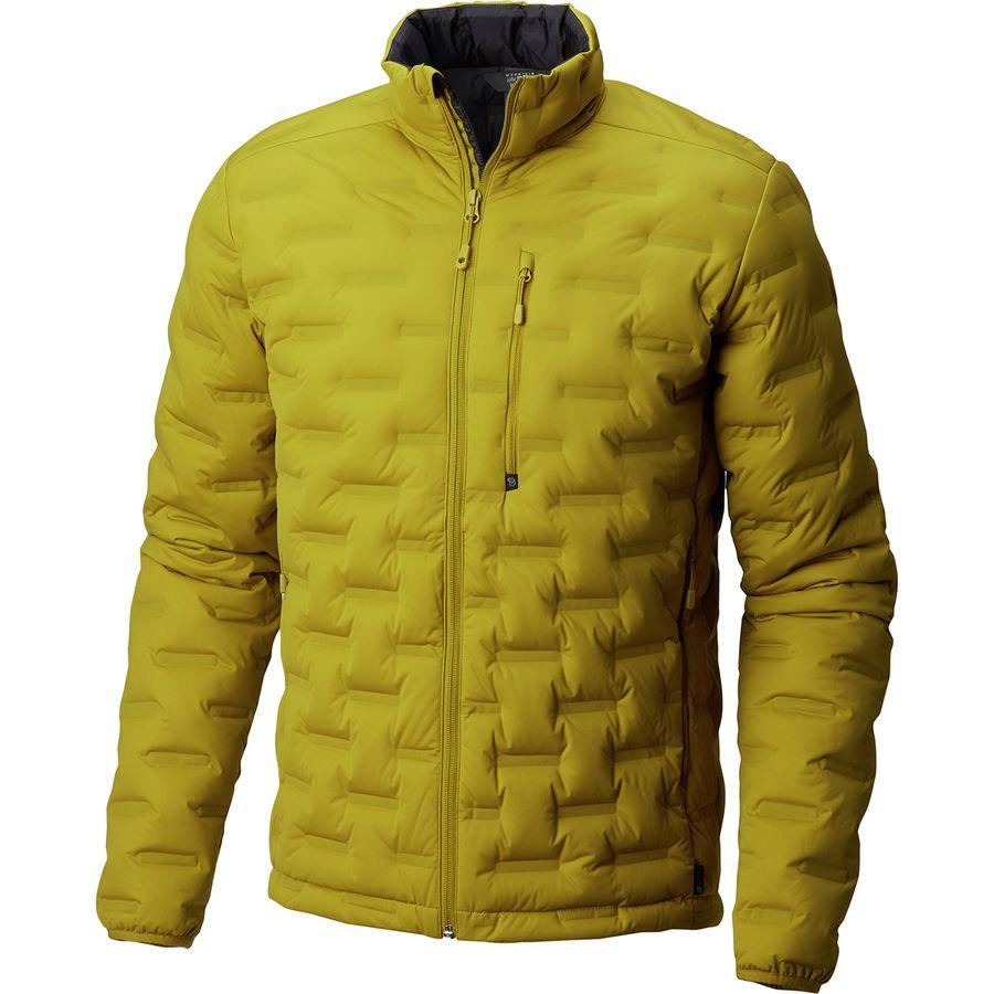 【ハイキング 登山 トレッキング 山登り アウトドア カジュアル】【ジャケット アウター ウェア】【メンズ 男性用】 (取寄)マウンテンハードウェア メンズ ストレッチダウン DS ジャケット Mountain Hardwear Men's Stretchdown DS Jacket Dark Citron