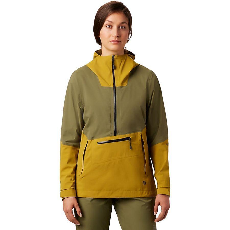 【ハイキング 登山 トレッキング 山登り アウトドア カジュアル】【ジャケット アウター ウェア】【レディース 女性用】 (取寄)マウンテンハードウェア レディース エクスポーザー 2 Gtx パックライト ストレッチ プルオーバー ジャケット Mountain Hardwear Women Exposure 2 GTX Paclite Stretch Pullover Jacket Dark Bolt