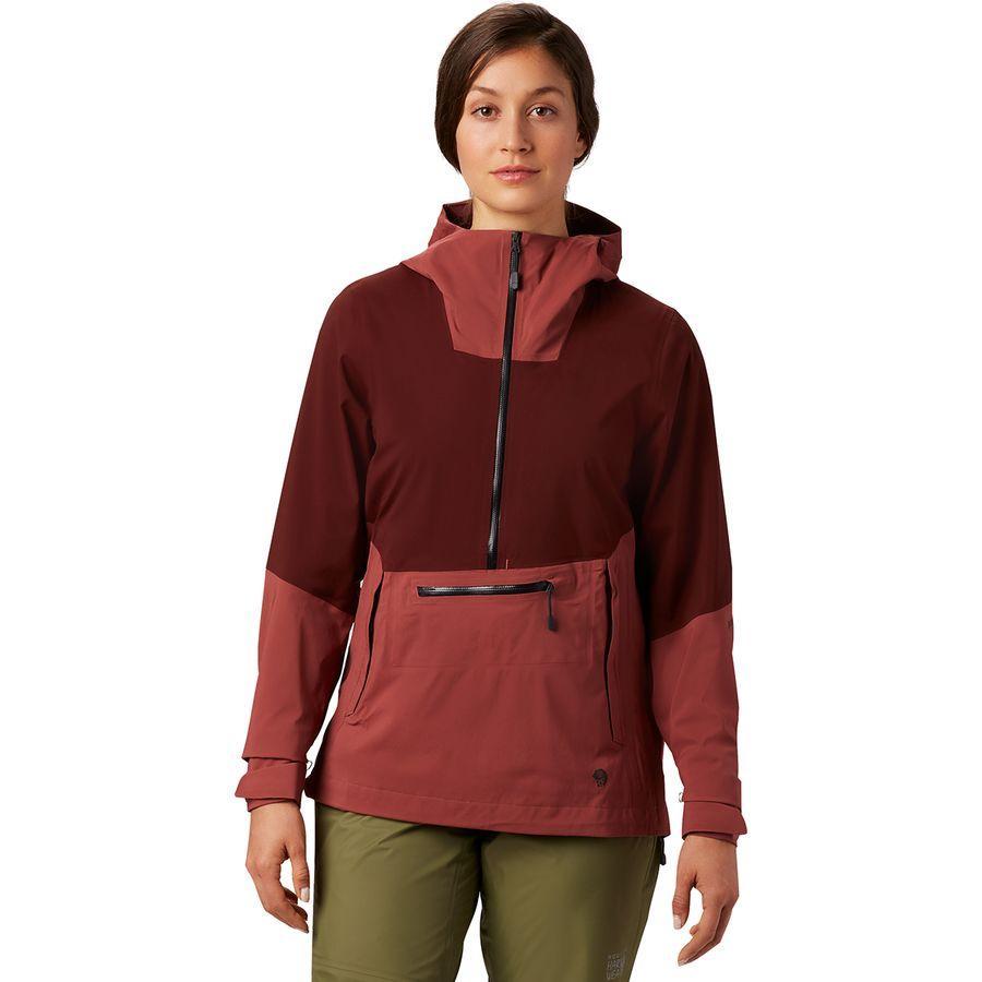 (取寄)マウンテンハードウェア レディース エクスポーザー 2 Gtx パックライト ストレッチ プルオーバー ジャケット Mountain Hardwear Women Exposure 2 GTX Paclite Stretch Pullover Jacket Washed Rock