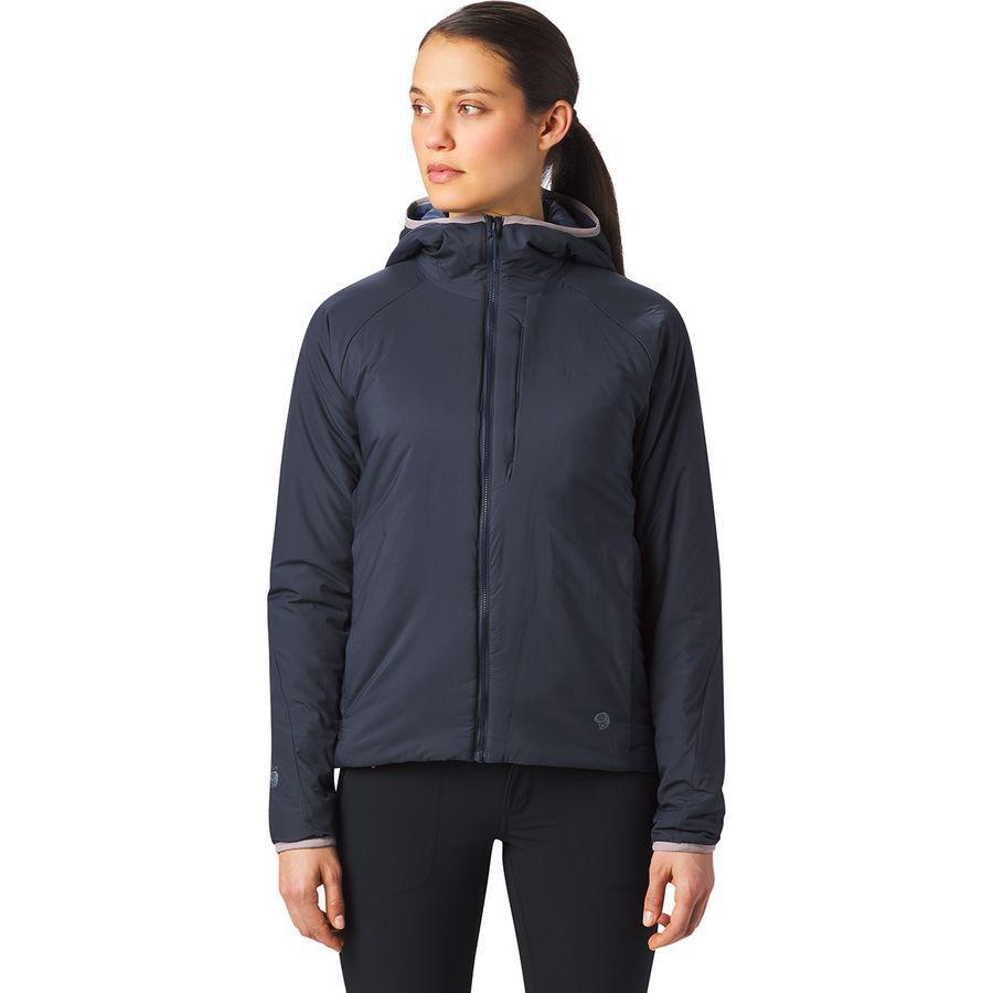 (取寄)マウンテンハードウェア レディース コア ストラタ フーデッド ジャケット Mountain Hardwear Women Kor Strata Hooded Jacket Dark Zinc