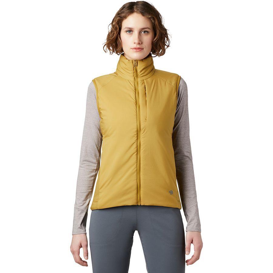 (取寄)マウンテンハードウェア レディース コア ストラタ ベスト Mountain Hardwear Women Kor Strata Vest Dark Bolt
