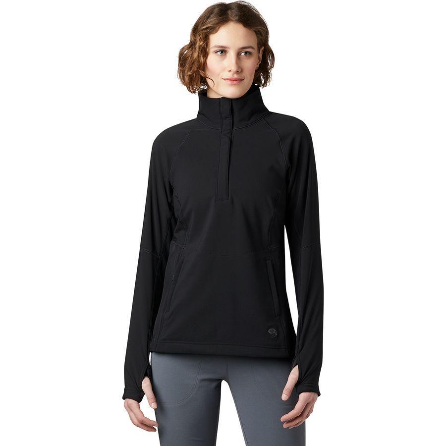 (取寄)マウンテンハードウェア レディース ケエレ フリース プルオーバー Mountain Hardwear Women Keele Fleece Pullover Black
