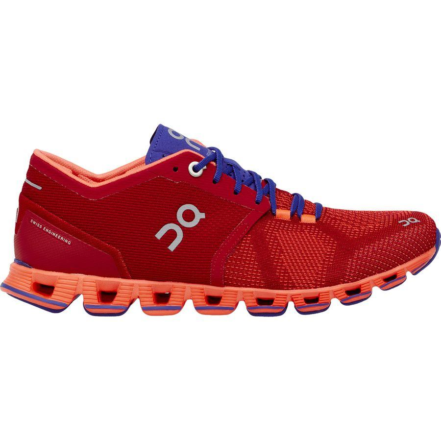【クーポンで最大2000円OFF】(取寄)オンランニング レディース クラウド X ランニングシューズ ON Running Women Cloud X Running Shoe Red/Flash